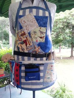 Man's Quilted Fidget Apron by NansSewingCorners on Etsy