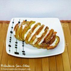 Batata Frita Recheada na AirFryer (Batatas Hasselback) | Fritadeira sem Óleo - AirFryer