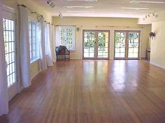 A studio for small classes or lunch time staff yoga/exercise