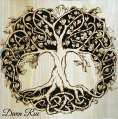 Meaningful Tattoos Ideas – Celtic Tree of Life design created in unique Celtic knotwork symbolizing the cir… Wood Burning Patterns, Wood Burning Art, Celtic Symbols, Celtic Art, Life Tattoos, Body Art Tattoos, Tatoos, Images Viking, Tatoo Tree