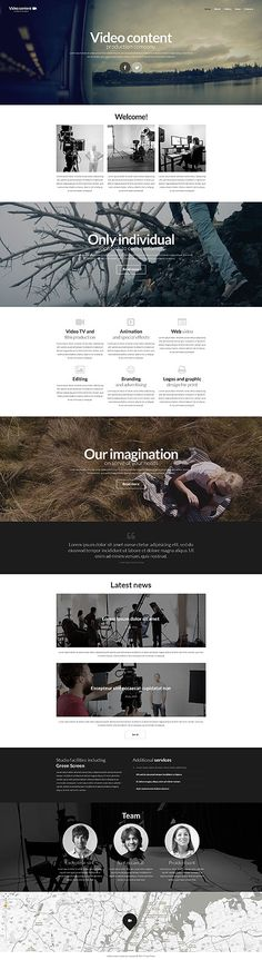 Template 52335 - Video Production Company Responsive Website Template