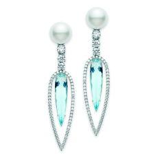 Aquamarine Earrings Mikimoto #LWN #loveitwantitneedit