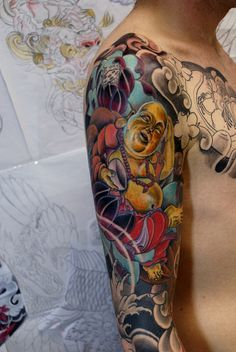 Tattoo-Foto: Tattoorium : Hotei in Arbeit