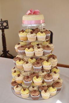 Nutella, lemon and vanilla wedding cupcakes with Cadbury's chocolate hearts