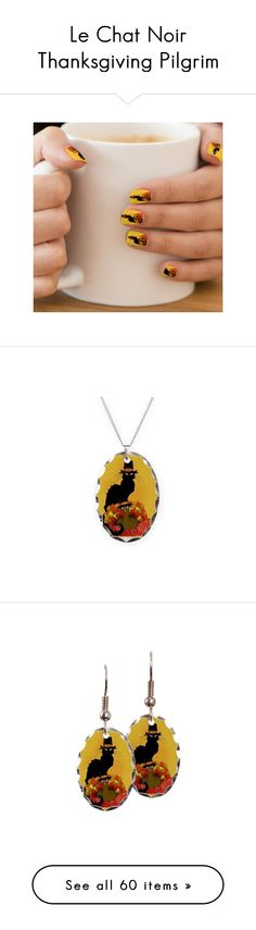"""Le Chat Noir Thanksgiving Pilgrim"" by gravityx9 on Polyvore featuring home, home decor, thanksgiving home decor, turkish home decor, jewelry, necklaces, oval pendant necklace, pendants & necklaces, oval pendant and pendant jewelry Le Chat Noir Thanksgiving Pilgrim by #SpoofingTheArts   available at #Zazzle , #Cafepress , #OartTee , #Society6 #PrintAllOverMe   #Gravityx9 Designs #LeChatNoir #Thanksgiving"