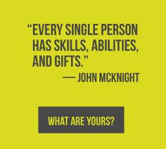John McKnight, co-founder of the ABCD Institute