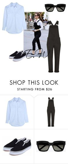 """""""Get The Look: Emma Watson"""" by georgiarkanderson ❤ liked on Polyvore featuring Emma Watson, Equipment, Topshop and Yves Saint Laurent"""