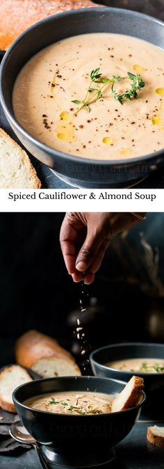 Spiced Cauliflower and Almond Soup