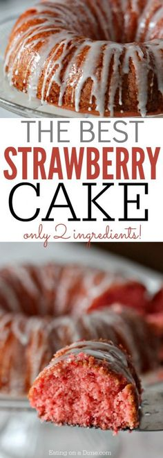 Quick and Easy Strawberry Cake Recipe (SODA CAKE!) is part of Best Strawberry dessert - You just need two ingredients to make this amazing strawberry cake recipe Quick and Easy Soda cake is a favorite dessert recipe Brownie Desserts, Oreo Dessert, Mini Desserts, Easy Desserts, Easy Simple Desserts Quick, Dessert Blog, It's Easy, Weight Watcher Desserts, Dessert Simple