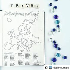 #Repost @fischrjournals with @repostapp ・・・ This week I'll be going to Europe for the first time in my life - I'm so excited!! To keep track of where I'll be traveling (for now, I may be staying solely in Barcelona for the week), I designed a map tracker with every European country on it. My goal is to visit all of them before I turn 30! #ShowMeYourPlanner #FischrJournals #travelersnotebook --------------------------------------- Use #bujoinspire para compartilhar seu BuJo conosco, caso sua…