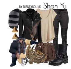 """Shan Yu"" by leslieakay ❤ liked on Polyvore featuring Ragdoll, Charlotte Simone, Calypso St. Barth, Rebecca Minkoff, SHAN, Giuseppe Zanotti, Miss Selfridge, disney and disneybound"