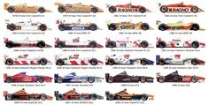 Complete Arrows formula one team paint liveries.