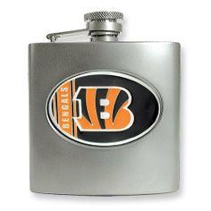 Cincinnati Bengals Stainless Steel Hip Flask goldia. $36.00