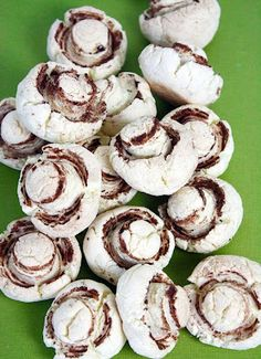 """""""Mushroom"""" Cookies - this would be cute for an Alice in Wonderland themed party or for April Fool's Day"""