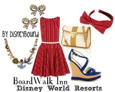 Disney Bound ~lalakay, I love this collection inspired by the Board Walk Inn pinned by Ashlee Broege.