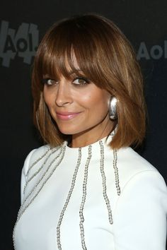 Nicole Richie's brow-grazing bangs are an incredibly beautiful addition to her sweet and sexy lob.