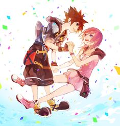 Sora x Kairi Kairi Kingdom Hearts, Kingdom Hearts Characters, Sora And Kairi, Kindom Hearts, It Goes On, Anime Love, Cool Girl, Artsy, Romantic