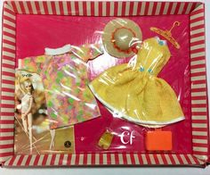 Rare Japanese Edition of an early 1960s Barbie fashion set. From the collection of Igeana Gober.