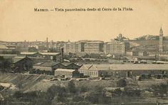 Vista panorámica de Madrid desde el Cerro de la Plata, entre 1916 y 1927. J. Roig. Tarjeta postal. Museo de Historia (Madrid)