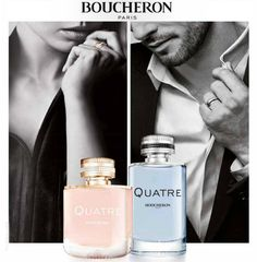 #Boucheron Quatre for Men & Women - it reveals the strength of character of those who wear it. The #fragrance expression of a subtle balance of modernity and heritage, innovation and tradition. #Quatre Pour Homme is a classy woody fragrance for men & Quatre for Woman is a brilliant and elegant floral fruity #perfume. To buy, Visit our Beauty outlet in Spinneys, The pearl Qatar - Madinat Centrale or www.fab-store.com