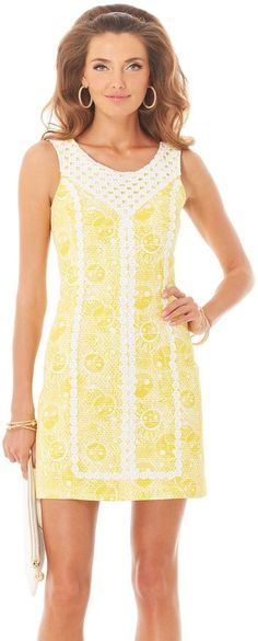 Lilly Pulitzer MacFarlane Lace Detail Shift Dress on shopstyle.com