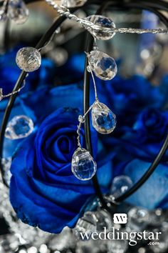 Royal Blue Wedding. Add glitz to your #wedding with the Crystal and Silver Decorative Garland Item #9198 { royal, regal, royal blue, crown, glam, glamour/glamor, crystal}
