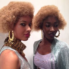 Models backstage at the #MarkFast show. Photo by the WSJ's Mary Lane. #lfw