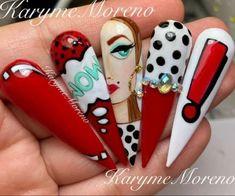 Pop Art Nails, Nail Drawing, Cute Spring Nails, Instagram Nails, Head Accessories, Nail Arts, Nail Inspo, How To Draw Hands, Nail Designs