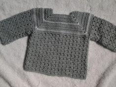 Chambrita , saquito o jersey a crochet 1ª puesta 1ª parte #tutorial - YouTube
