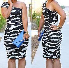 Black and White One-Shoulder Dress www.3029boutique.com