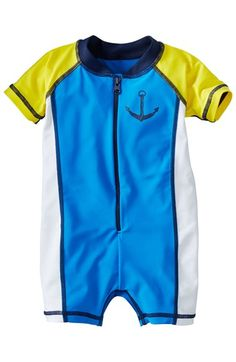 Infant Boy's Hanna Andersson 'Swimmy' One-Piece Rashguard Swimsuit