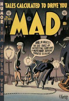 MAD Magazine Cover-Sherlock Holmes. See Mad's Shermlock Shomes spoof here: http://jeffoverturf.blogspot.com/2011/05/shermlock-shomes-bill-elder-mad-mondays.html