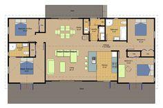 Huxley Floorplan, genius homes Prefabricated Houses, 3 Bedroom House, House Plans, Floor Plans, Contemporary, Architecture, House Ideas, Homes, Design