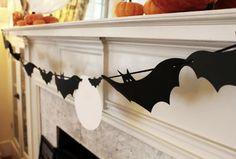 DIY Halloween - Guirlande chauve souris