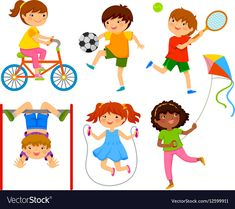 Find Active Kids Playing Outdoors stock images in HD and millions of other royalty-free stock photos, illustrations and vectors in the Shutterstock collection. Thousands of new, high-quality pictures added every day. Kids Vector, Free Vector Art, Body Preschool, Funny Cartoon Characters, Kids Outdoor Play, Newspaper Design, Cute Animal Drawings, Illustration, Children Images