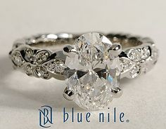 Flora Vida Oval Cut Diamond Engagement Ring #BlueNile