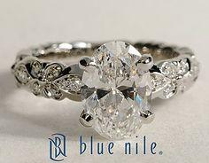 Flora Vida Oval Cut Diamond Engagement Ring #BlueNile Beautiful!
