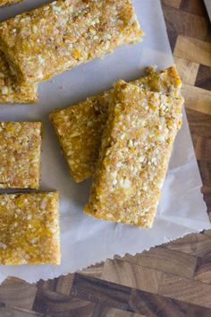 No Bake Apricot Almond Bars Author: Lovely Little Kitchen Serves: 8 Ingredients: 3/4 cup coconut flakes 2 cups raw almonds 1 1/...