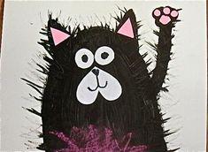 Splat the Cat art project to accompany the books Splat Le Chat, First Grade Art, Kindergarten Art Projects, Art Lessons Elementary, Art Classroom, Art Plastique, Art Activities, Cat Art, Creative Art