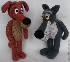 """Купить Пес и Волк герои мультфильма """"Жил был пес"""" - комбинированный, авторская ручная работа"""