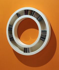 circular rounded cd shelf