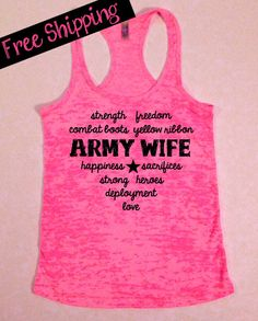 Military Love..Army Wife Heart Burnout by BlessonsApparel on Etsy, $26.00