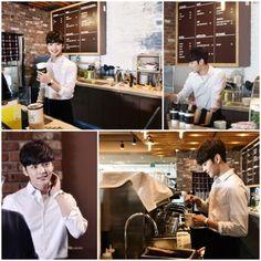 Kim Min Jae transforms into a barista in still-cuts for 'My Little Baby'! Kim Go Eun, Kim Min, Oh Ji Ho, Han Ye Seul, Yook Sungjae, Lee Dong Wook, Korean Star, Gong Yoo, My Little Baby