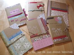 GALLETAS Y LIBRETAS_14 Note Paper, All Paper, Fabric Book Covers, Junk Journal, Journal Pages, Album Book, Scrapbook Cards, Scrapbooking Layouts, Mini Books