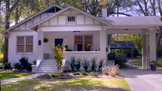 """For Sale: A Cottage That Got a Makeover on HGTV's Home Town - Hooked on Houses - - A cottage that got a makeover by Ben and Erin Napier on the second season of the hit HGTV show """"Home Town"""" is for sale in Laurel, Mississippi. Southern Homes, Coastal Homes, Craftsman Cottage, Cottage House, Cottage Living, Home Town Hgtv, Hgtv Dream Homes, Erin Napier, Small Town America"""