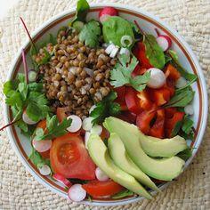 salade-composee-lentilles-herbes-et-crudites