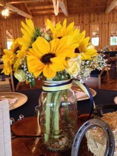 Mason Jars and Sunflowers
