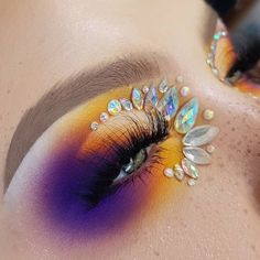 Fairy Eye Makeup, Bold Eye Makeup, Rave Makeup, Beautiful Eye Makeup, Colorful Eye Makeup, Eye Makeup Art, Makeup Inspo, Eyeshadow Makeup, Makeup Inspiration