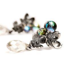 My new love - Trollbeads. Flowers' earrings #earrings #silver #trollbeads