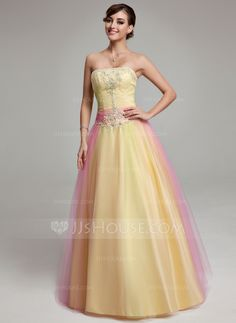 Quinceanera dresses 178 99 ball gown strapless floor length tulle